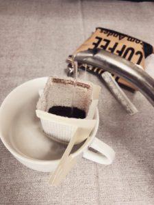 コーヒー蒸らし