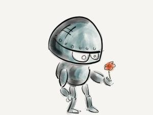 ロボットの絵