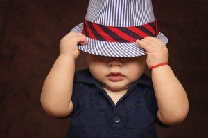 帽子と子ども