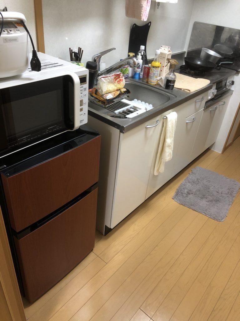 両開きの冷蔵庫